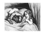Little Red Riding Hood and the Wolf', Illustration from 'Les Contes De Perrault' Giclee Print by Gustave Doré