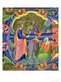 "Historiated Initial ""E"" Depicting St. John the Baptist Giclee Print by Don Simone Camaldolese"
