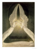 Christ in the Sepulchre, Guarded by Angels Giclée-Druck von William Blake