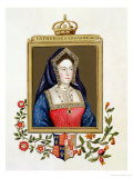 Portrait of Catherine of Aragon 1st Queen of Henry VIII Giclee Print by Sarah Countess Of Essex