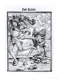 "Death and the Knight from ""The Dance of Death"" Giclee Print by Hans Holbein the Younger"