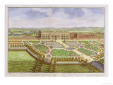 The Royal Palace of Hampton Court, from &quot;Survey of London&quot; Giclee Print by Leonard Knyff