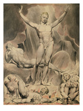 Satan Arousing the Rebel Angels, 1808 (Pen and W/C) Giclee Print by William Blake
