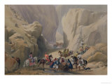 "The Opening into the Narrow Pass Above the Siri Bolan, from ""Sketches in Afghaunistan"" Giclee Print by James Atkinson"
