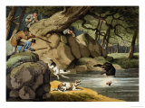North America Bear Hunt Giclee Print by Samuel Howitt