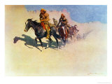Jedediah Smith Making His Way Across the Desert from Green River to the Spanish Settlement Giclee Print by Frederic Sackrider Remington