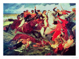 The Battle of Araure, 1828 Giclee Print by Tito Salas