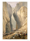 "Entrance to the Bolan Pass from Dadur, from ""Sketches in Afghaunistan"" Premium Giclee Print by James Atkinson"
