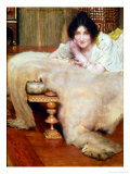 A Listener Giclee Print by Sir Lawrence Alma-Tadema