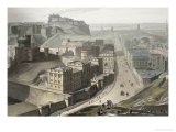 Edinburgh, from Calton Hill, from &quot;A Voyage Around Great Britain Undertaken Between 1814 and 1825&quot; Giclee Print by Thomas &amp; William Daniell