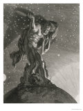 Atlas Supports the Heavens on His Shoulders, 1731 Giclee Print by Bernard Picart