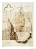 Plan, Section and Elevation of Florence Cathedral Giclee Print by Eugene Duquesne