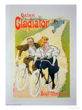 Reproduction of a Poster Advertising &quot;Gladiator Cycles,&quot; Boulevard Montmartre, Paris, 1895 Giclee Print by Ferdinand Misti-mifliez