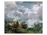 Study of Sky and Trees Reproduction proc&#233;d&#233; gicl&#233;e par John Constable