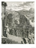 Cassandra Foretells the Trojans Their Fate and is Not Believed, 1731 Giclee Print by Bernard Picart