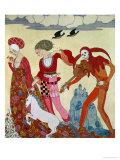 Love, Desire and Death Giclee Print by Georges Barbier