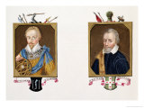 Double Portrait of Sir Humphrey Gilbert and Sir Richard Grenville Reproduction procédé giclée par Sarah Countess Of Essex
