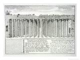 Cistern Beneath the Hippodrome, Constantinople, Turkey, from Entwurf Einer Historischen Architektur Giclee Print by Johann Bernhard Fischer Von Erlach