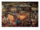 Coal Riddling Workshop, at the Mines of Blanzy, circa 1860 Giclee Print by Ignace Francois Bonhomme