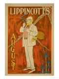 "Reproduction of a Poster Advertising the August Issue of ""Lippincott's Magazine"" Giclee Print by Will Carqueville"