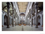 View of the Nave, 1425-46 Giclée-tryk af Filippo Brunelleschi