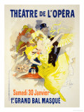 Reproduction of a Poster Advertising the First &quot;Grand Bal Masque,&quot; Theatre De L&#39;Opera, Paris, 1896 Giclee Print by Jules Ch&#233;ret