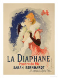 "Reproduction of a Poster Advertising ""La Diaphane"" Giclee-vedos tekijänä Jules Chéret"