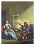 The Harlequin Painter, circa 1742 Giclee Print by Giovanni Domenico Ferretti