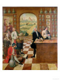 The Apothecary C. Morelot in His Pharmacy, 1751 Giclee Print by C. Souville