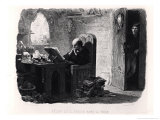 "Claude Frollo in the Tiny Room of the Tower, Illustration from ""Notre-Dame De Paris"" Giclee Print by Francois Joseph Aime De Lemud"