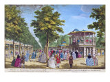 View of the Grand Walk at the Entrance of Vauxhall Pleasure Gardens with the Orchestra Playing Giclee Print by Samuel Wale