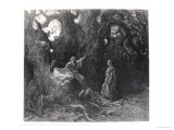 "Merlin in the Forest of Broceliande, from ""Orlando Furioso"" Giclee Print by Gustave Doré"