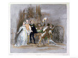 Scene from &quot;The Huguenots&quot; by Giacomo Meyerbeer Giclee Print by Achille Deveria