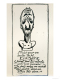 Self Portrait, Early 20th Century Giclee Print by Erik Satie