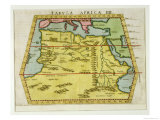 Map of North Africa, circa 1580s Giclee Print