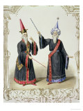 Magicians at the Carnival in Berlin, 1836 Premium Giclee Print