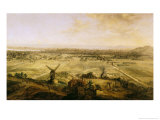 View of Paris from Belleville, 1738 Giclee Print by Charles Laurent Grevenbroeck