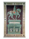 Equestrian Monument to Sir John Hawkwood 1436 Reproduction procédé giclée par Paolo Uccello