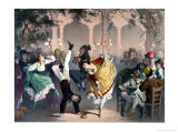 Quadrille at the Bal Bullier Place De L'Observatoire Paris Giclee Print by Philippe Jacques Linder