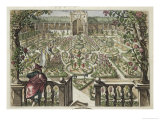 """Spring Garden, from """"Hortus Floridus,"""" Published 1614-15 Giclee Print by Crispin I De Passe"""