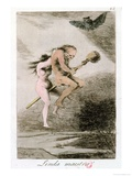 "Linda Maestra, Plate 68 of ""Los Caprichos,"" Late 18th Century Giclee Print by Francisco de Goya"