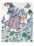 "Aucassin and Nicolette on a Horse, from the Early 13th Century Chantefable ""Aucassin Et Nicolette"", Giclee Print"