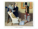 "The Hydropathic Doctor, Caricature from ""La Caricature"" Giclee Print by Honore Daumier"