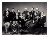Portrait of a Large Family from Lyon, Late 19th Century Giclee Print