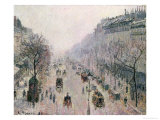 Boulevard Montmartre, 1897 Giclee Print by Camille Pissarro