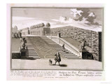 Steps to the Garden Terrace, Belvedere Palace, Vienna Giclee Print by Salomon Kleiner