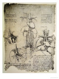 The Heart and the Circulation, Facsimile of the Windsor Book Giclee-trykk av  Leonardo da Vinci