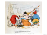 "The Compulsory Bath, Illustration for ""Les Defauts Horribles,"" circa 1860 Impression giclée par  Trim"