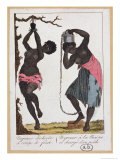 Punishment of Two Black Female Slaves, 1811 Giclee Print by John Gabriel Stedman