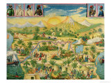 The Conquest of Africa, Board Game Based on the Travels of Sir Henry Morton Stanley Giclee Print